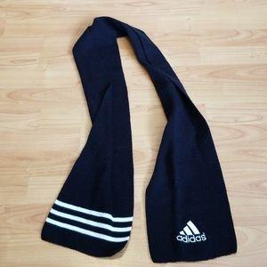 Adidas black & white scarf